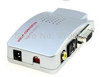 Original Universal PC VGA to TV AV RCA Signal Adapter Converter Video Switch Box Supports NTSC PAL system