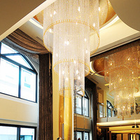 Full crystal lamp the 4 layer crystal chandeliers engineering lamp living room lamp villa light the penthouse floor lamp 2232