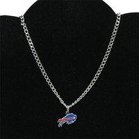 Buffalo bill lady BFF logo necklace - Silvertoned