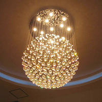 Genuine lamp 70 ball lights stylish living room lamp simple crystal lamp modern restaurant lighting Lighting 2263
