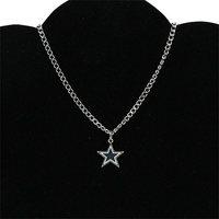 Dallas cowboys BFF logo necklace - Silvertoned woman