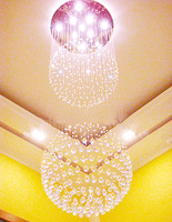 80 ball lamp chandelier stairs lamp duplex lamp stairs chandelier modern crystal lamp 2266