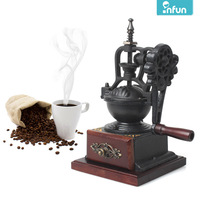 Infun hand vintage grinder ceramic core coffee grinding machine granule adjustable