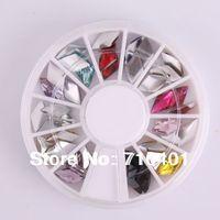 New Free Shipping Wholesale/ Nails Supplier, 100pcs 3D Polymer Rhinestone UV Nail Gel Polish DIY Acrylic Nails Tool/ Nail Art 4#