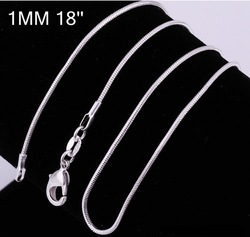 Min.order is $9.9 (mix order) FREE SHIPPING.925 sterling silver 18 inch O cable chain necklace.silver 925 necklaces SXL0010(China (Mainland))