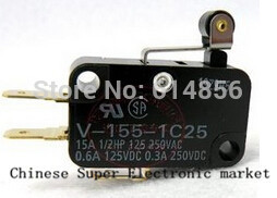 Free Shipping 20pcs V-155-1C25 Momentary Limit Micro Switch SPDT Snap Action Switch OMRON(China (Mainland))