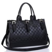 Women's  fashion plaid bag Emboss bag vintage women's handbag shoulder bag  cross-body