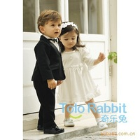 Free shipping:2013 In the spring and autumn period and the gentleman series four pieces wedding dress suit (90-110CM  3pcs/lot)