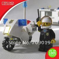 Enlighten Child 6734 DIY educational toys Police motorcycle KAZI building block sets,children toys free Shipping