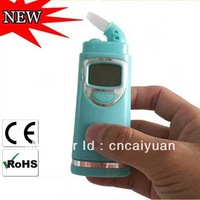 Digital LCD display and audible alert alcohol tester with red backlight free shipping