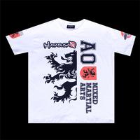 mma white t-shirt sportwear wrestling singlets dropship wholesale free shipping