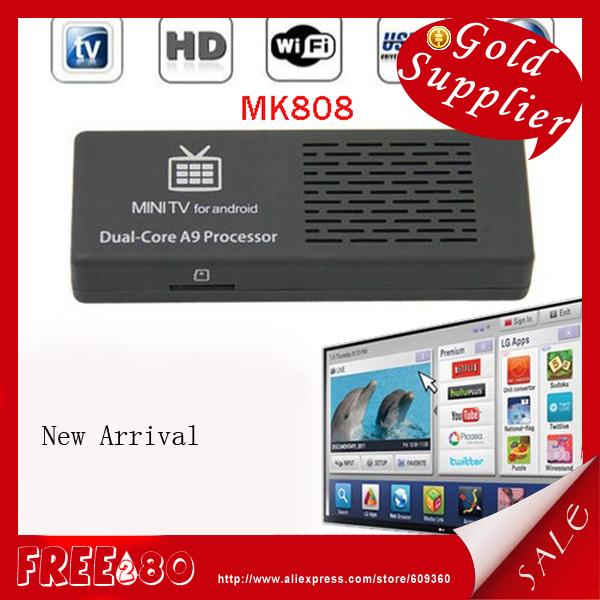 New Arrival! MK808 Google Android 4.1 Jelly Bean Mini PC Dual Core RK3066 Cortex-A9 Stick TV Box Dongle 5pcs/lot Free Shipping(China (Mainland))