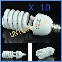Wholesale Ten Bulbs 45W/5500K Studio Daylight Energy Saving E27 Light Bulb Free Shipping