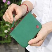 Zakka brief faux leather multicolour diamond coin case purse mp4 bag