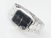 Free Shipping simple square Commerce grace and elegance diamond steel strip couple of table male Korean fashion couple watches
