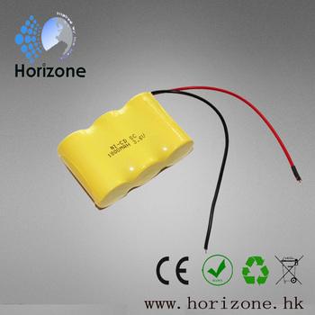 2pcs 3.6v 1800mAh Rechargeable SUB-C Battery Pack