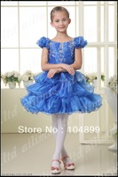 2013 Cut Fashion Stylish Flower  Girl Kids Pageant Wedding/Evening Prom  Dress Custom Size2.4.6.8.10.12.14.16