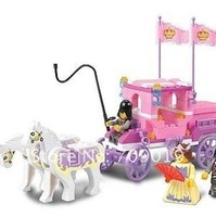 Enlighten Child 0250 Educational Royal Carriage SLUBAN Assembles Particles Block Toys,children toys free Shipping