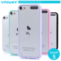 Vpower case for ipod touch 5,case for ipod 5, pink case with free Screen protector, Free shipping by HongKong Post