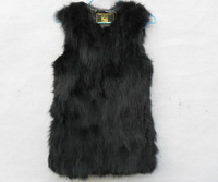 Genuine fox fur vest women's Long fox fur coat nature fox  fur jacket Free shiping EMS TF0281