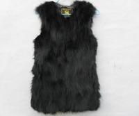2015 New Fashion Real Natural Genuine fox fur vest women's Long fox fur coat nature fox  fur jacket EMS Free shiping EMS TF0281
