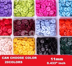 Free shipping,11MM mixed 20colors sewing button s, bulk buttons,sewing accessories,Resin Buttons wholesale(SS-671)(China (Mainland))