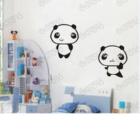 Cartoon Lovely Panda Children Removable Refrigerator Wall Stickers Decals Vinyl Art home Decoration Quotes Bedroom Decor