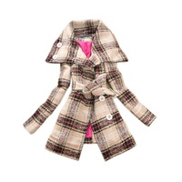 Free shipping 2012 New fashion women High collar coats(Turn-down collar)-Good quality-HY070