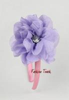 2012 Fashional TUTU Skirt Girl HeadBand  3Pcs Flower Kids Hair Clips With Diamond Matching Tutu Dress (10PCS/Lot) HA20912-14^^FT