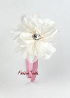 2015 New Year Pettigirl's Hair Ornaments Pink Headdress White Flowers Kids' Hair Band Ready Stock Hair AccessoriesHA20912-06^^FT