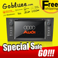 Free shipping & Special Car DVD player head unit For Audi TT with USB GPS navigation Radio TV Bluetooth Ipod