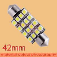 50pcs  42mm 16 SMD Pure White Dome Festoon 16 LED Car Light Bulb Lamp Interior Lights C5W Led