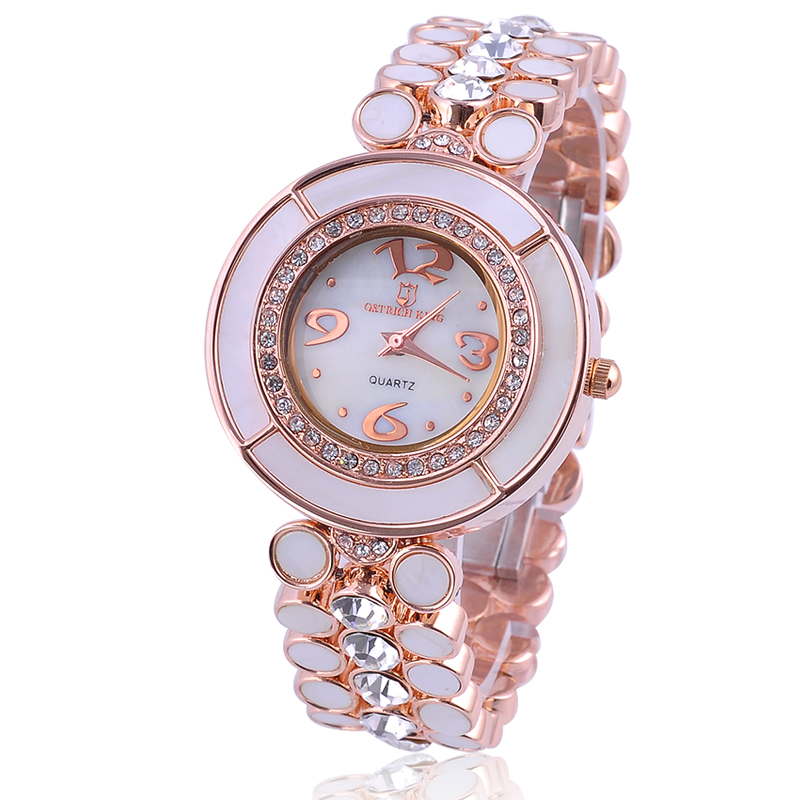 Brand watches women's watch fashion lucky wheel rhinestone table bracelet steel ladies watch 8033(China (Mainland))