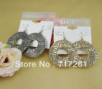 Hot sale brand  Letter Earring Gold/Silver free shipping wholesale/retailer