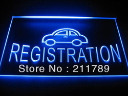 b0353-b Car Registration Auto Services Neon Light Sign(China (Mainland))