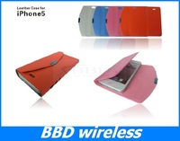 New Credit card slot wallet leather case for iphone 5 case