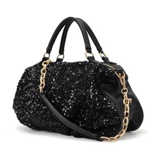 Fashion Women Bag Black  Paillette  Chain One Shoulder Cross-body Handbag Factory Outlets Center