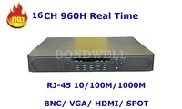 Hot Sell 16CH 960H Real Time DVR With HDMI And Spot, Mac Systme Compatible 7116HX3