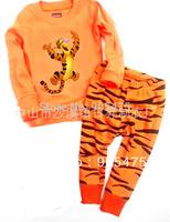 free ship baby wear set 100% conton baby long sleeve pajamas boy's underwear clothing sets kids clear suits 2pcs sets bvjb01