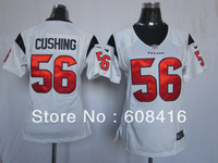 Free Shipping ,2013 NEw Style Houston #56 Brian Cushing Women's Football 10th Patch Jerseys Size S-2XL ,Can mix order