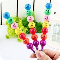 4 pcs/lot  Retail 7 Color Cute Crayon doodle pen cartoon pen stationery