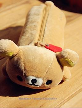 10PCS Kawaii HOT NEW SAN-X Sentimental Rilakkuma Bear; Plush 24*9CM Pen Pencil BAG; Coin Cash Purse & Wallet Pouch Case;