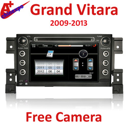 New product For Suzuki Grand Vitara 2009-2013 tape recorder car radio dvd player with GPS navigation touch screen free camera(China (Mainland))