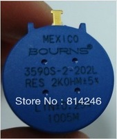free  shipping  5pcs  BOURNS Precision multi-turn potentiometer 3590S-2-502L 5K origin in Mexico
