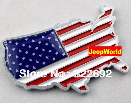 3D USA United States Union Jack HQ Flag Metal Chrome Car Badge Decal Emblem CHROME BADGES UNIVERSAL TYPE FASHIONABLE STYLE(China (Mainland))
