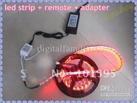 72W 5M 5050 RGB LED Strip 5M 300 LEDs WATERPROOF +44 key IR REMOTE Controller+power 110V-240V