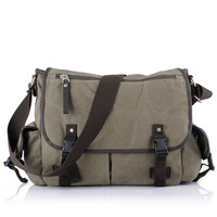free shipping Cotton brief one shoulder male canvas bag man bag casual messenger bag handbag student school bag 1127