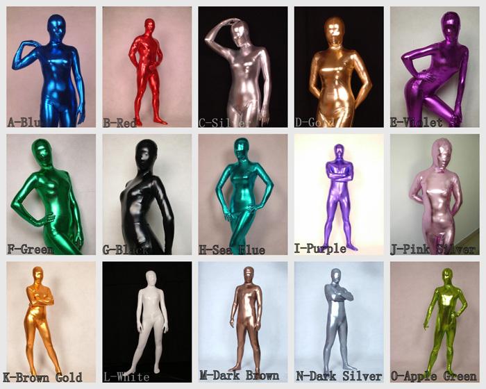 silver latex lycra bodysuit zentai suit adult size catsuit fancy, Muscles