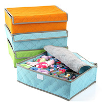 Multicolour bamboo multicellular covered bra underwear storage box panties socks finishing box cy41