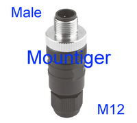 ES-MS4 /M12 male straight 4-pin Connector Mountiger Euro-style Quick Disconnect Receptacles Screw clamps